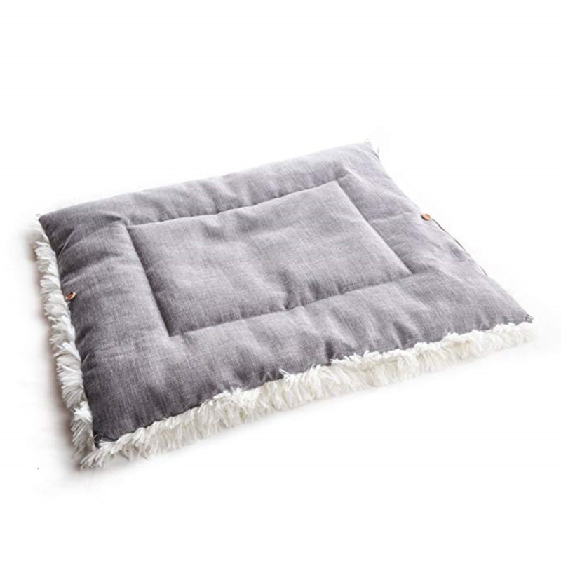 New Soft Cat Bed Rest Dog Blanket Winter Foldable Double use of pet bed matCushion Hondenmand Plush Soft Warm Sleep Mat 5
