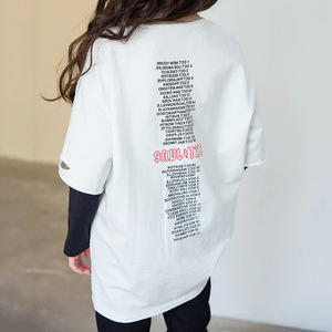 Image 5 - Ragazzi di Autunno della molla Delle Ragazze di Sport Set Femminile Bambini Casual T Shirt Bambini del Vestito Hip Hop Lettera Maniche Adolescenti Tute CA854
