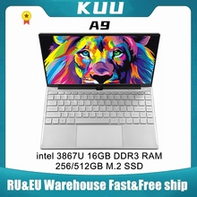 KUU A9 14.1 inch Laptop intel 3867U 16GB RAM 512GB M.2 SSD FHD screen WIFI Camera slim Student Notebook For Work and Light Game