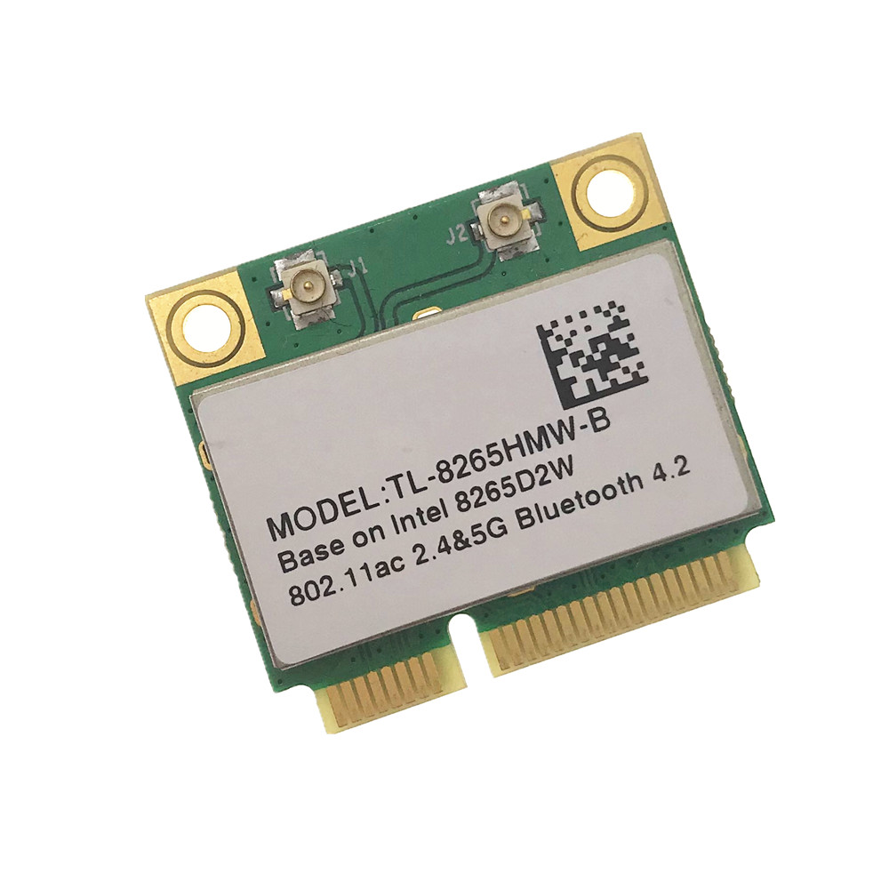 New Dual Band Wireless-AC 8265 7265 Intel IT-7265HMW 8265D2W 7265D2W 2.4G/5Ghz 802.11ac 867Mbps Bluetooth 4.0 MINI PCI-E Card(China)