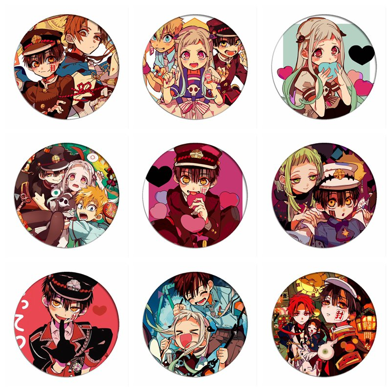 Toilet-Bound Hanako-kun Cosplay Badges Jibaku Shounen Brooch Icon Collection Nene Yashiro Breastpin For Backpacks Clothing