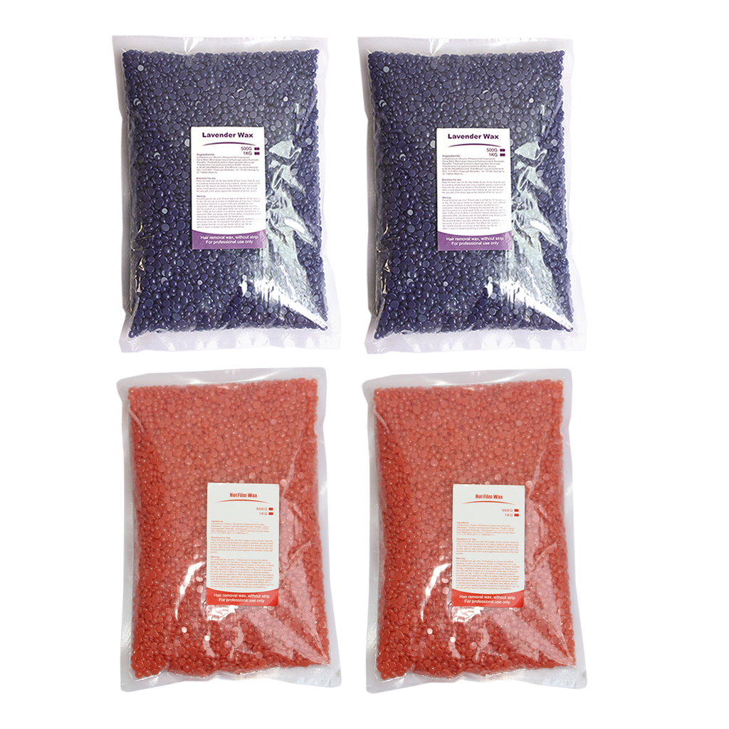 4 sacos 500g cera dura feijão depilatório