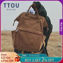 Вельветовые рюкзаки для женщин, винтажный зимний Повседневный однотонный рюкзак для женщин, школьный рюкзак для девочек подростков, женский рюкзак