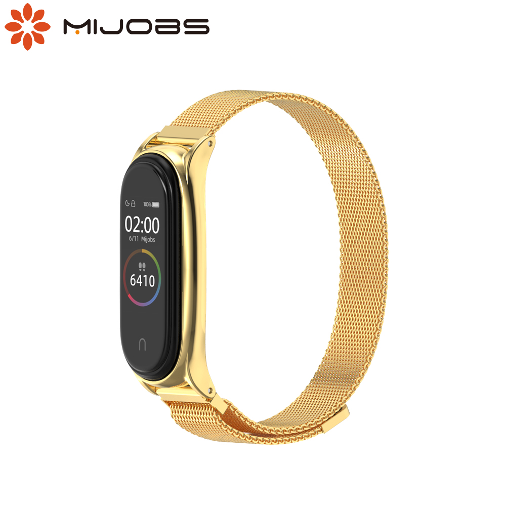 Mi Band 5 Strap for Xiaomi Mi Band 4 Bracelet Metal Wrist Strap for Pulseira Mi Band 3 Wristbands Magnetic NFC Global Version image