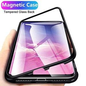 360 Funda magnética para Xiaomi Redmi K20 Nota 8 7 5 6 Pro 8A 7A 6A teléfono móvil F1 Mi 9 8 SE A3 lite Nota 10 Pro funda de vidrio templado