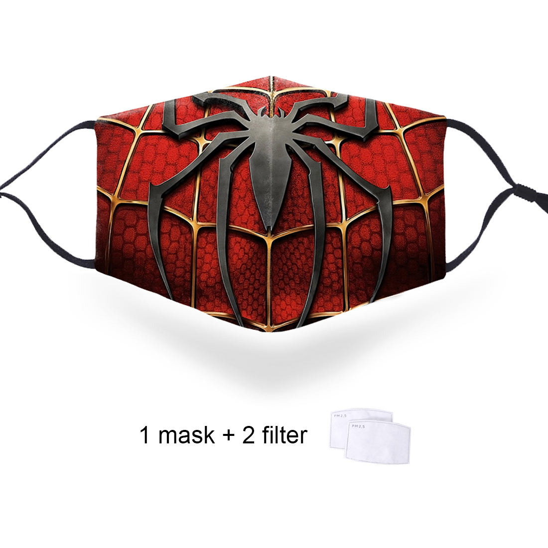 Superman Spiderman Fashion 3D Masks PM2.5 Filter Face Respirator Anti Mouth Mask Marvel Protective Washable Soft Face Masks