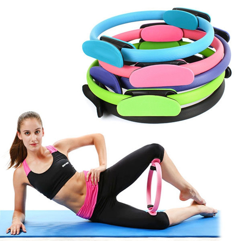 1PCs Professional Yoga Circle Pilates Sport Magic Ring Women Fitness Kinetic Resistance Circle Gym Workout Pilates Accessories