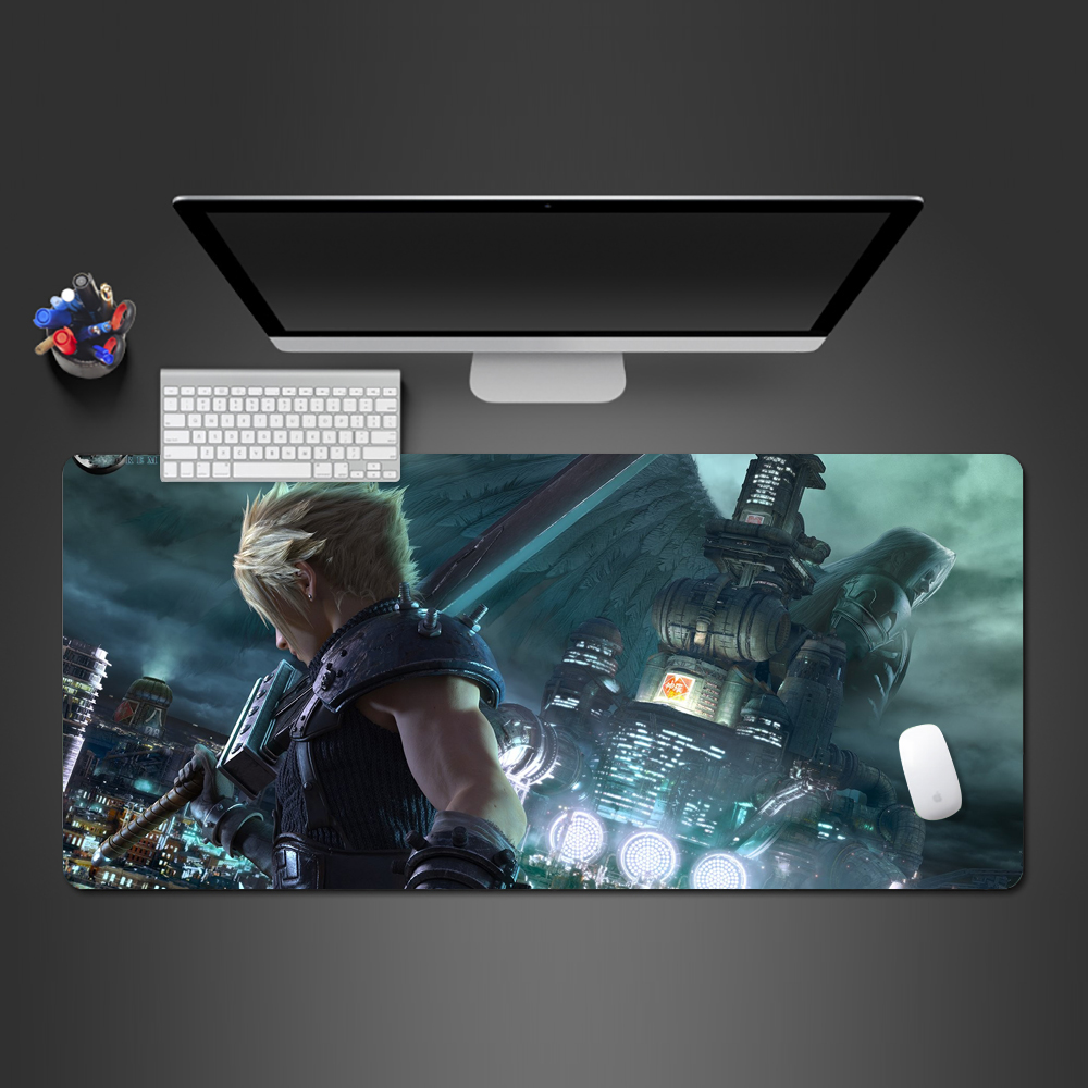 Final Fantasy Mouse Pad Best-selling Gamer Mousepad Player Gaming Mats Large Lock Side Mouse Pad PC Game Computer Desk Mats image