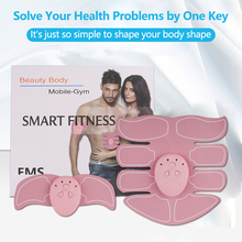 EMS ABS Stimulator Muscle Massage Buttocks Hip Trainer Abdominal Fitness Body Shaping Gym Home Exercise Fitness Equipment Train