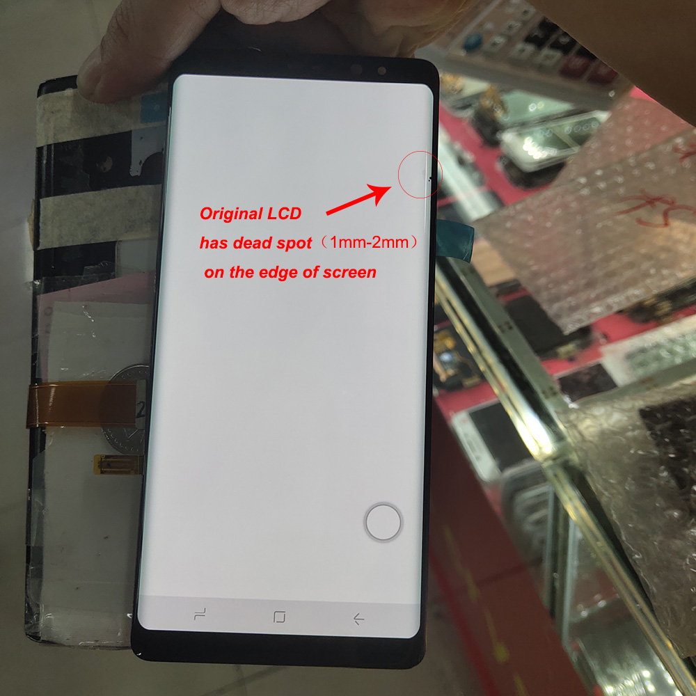 Original LCD with Dead spot <font><b>For</b></font> <font><b>Samsung</b></font> <font><b>Galaxy</b></font> <font><b>Note</b></font> <font><b>8</b></font> N9500 <font><b>N950F</b></font> LCD Display Touch <font><b>Screen</b></font> Digitizer Assembly image