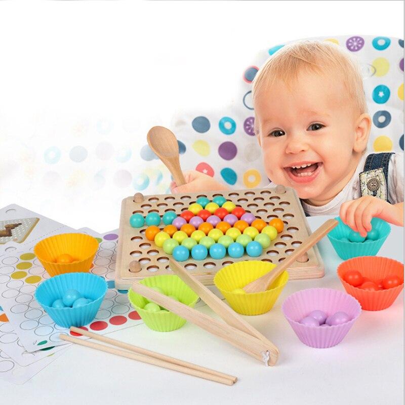 criancas brinquedos montessori de madeira brinquedos maos cerebro formacao clipe contas quebra cabeca jogo de matematica
