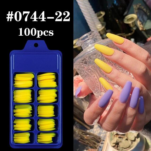 100 шт акриловые накладные ногти овальные профессиональные накладные фотография