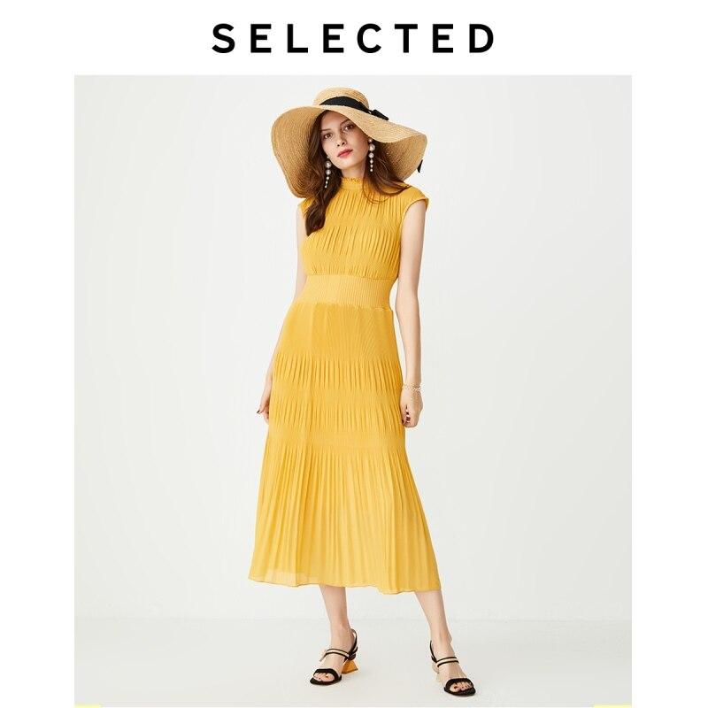 SELECTED Slim Fit Pleated Midi Dress S|41932J509
