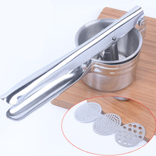 Пресс многоцелевой ручной Прочный из нержавеющей стали дробилка пищевая Рисер картофель практичный Masher безопасный