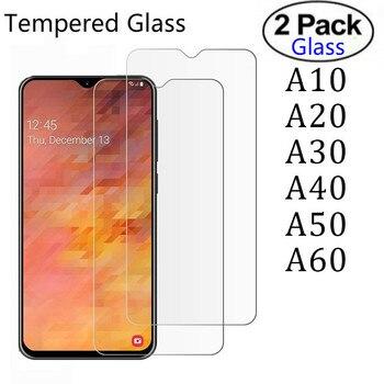 Закаленное стекло для Samsung A10, A20, A30, A40, A50, A70, 2 шт., Защитное стекло для Galaxy A 50, 70, 30, 40, 10, 20, защитная пленка