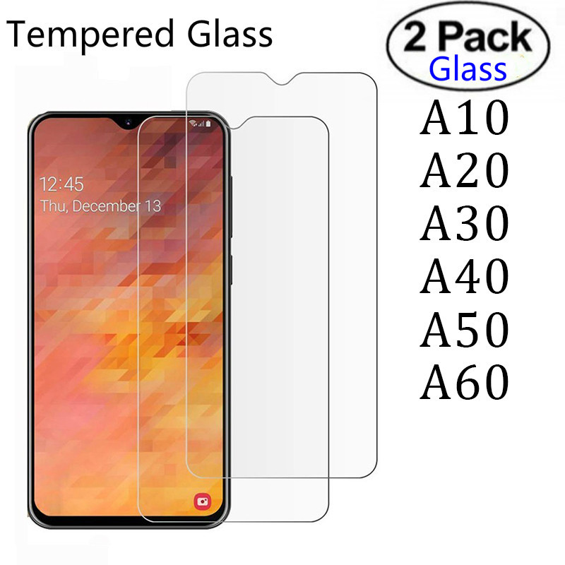 2pcs Tempered Glass For Samsung A10 A20 A30 A40 A50 A70 Glas Screen Protector for Galaxy A 50 70 30 40 10 20 Protective film image