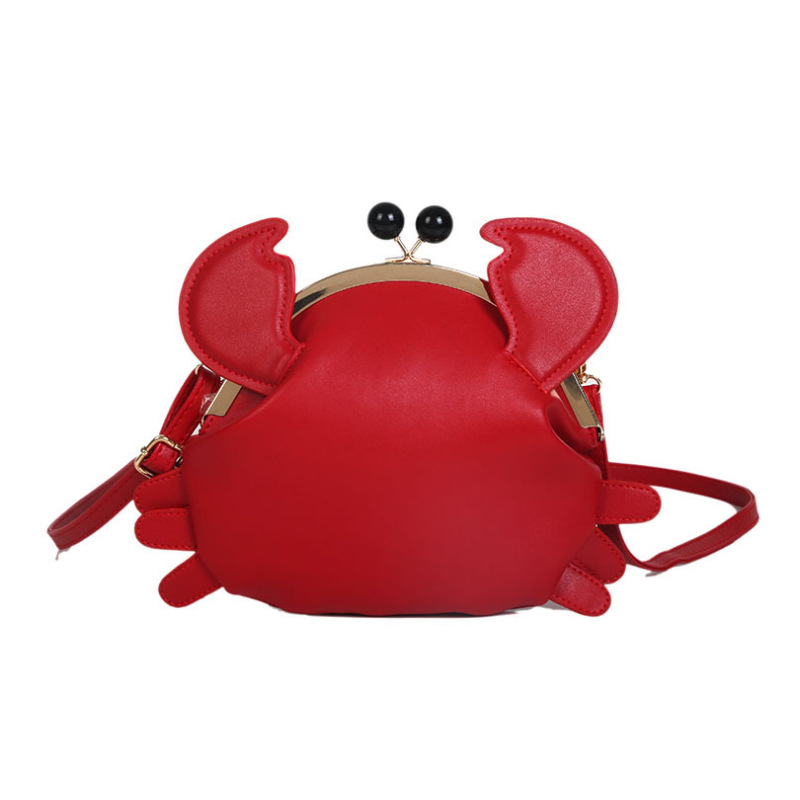 New fashion cute crab bag funny animal messenger shoulder bag purse mobile phone bag casual handbag|Top-Handle Bags| - AliExpress