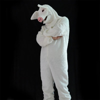 White Pig Set 1.7m Mascot Costume Suits Mask Cosplay Party Game Dress Outfits Clothing Advertising Promotion Men and Women