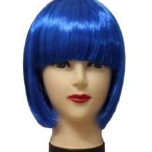 Mulheres curto peruca cabelo liso cosplay, festa show 13 cores cosplay cabelo