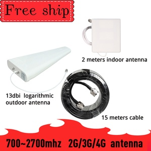 Image 1 - Outside gain 13dbi Log antenna CDMA UMTS GSM 700~2700 mhz  Gain 9dbi For Cell Phone Booster Repeater Panel Antenna With 2m Cable