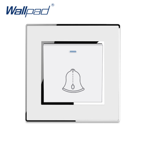 Doorbell Reset Switch Momentary Contact Luxury Acrylic Panel With Silver Border Wallpad Push Button Wall Switch