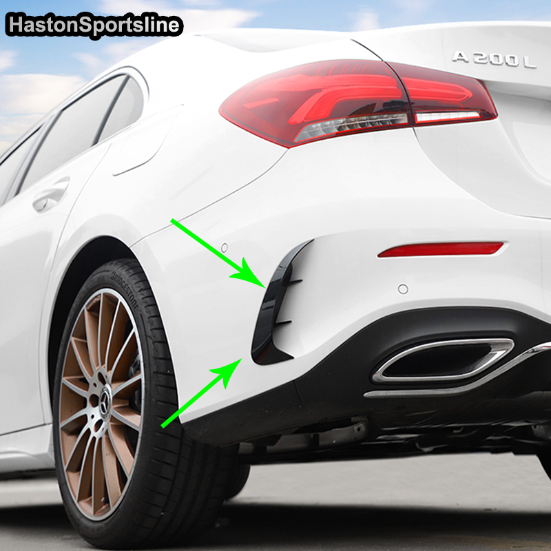 For Mercedes-Benz W177 A180 <font><b>A200</b></font> A220 Sedan Modified <font><b>AMG</b></font> Style Spoiler Splitter Body kit Car Styling 2018UP image