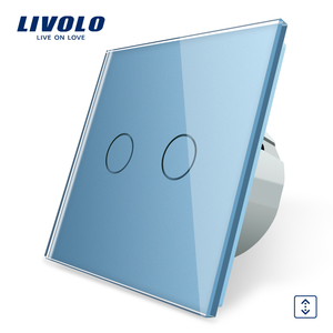 Image 2 - Livolo EU 표준 벽 조명 터치 스위치, 벽 홈 스위치, 크리스탈 유리 스위치 패널, 220 250 V, corss, 조광기, 무선, 커튼