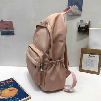 Women Bag Girls sthdent Preppy Style Shoulder Bookbags Pure color Bag School Travel Backpack Teenage Girl Children Backpacks