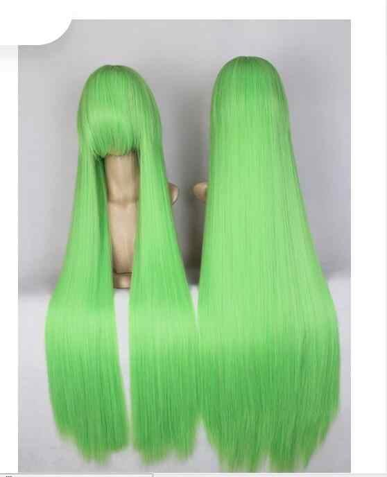 + + 01416 @ Q8 + + + Code Geass C.C CC zielone długie proste damskie gładkie cosplay peruka