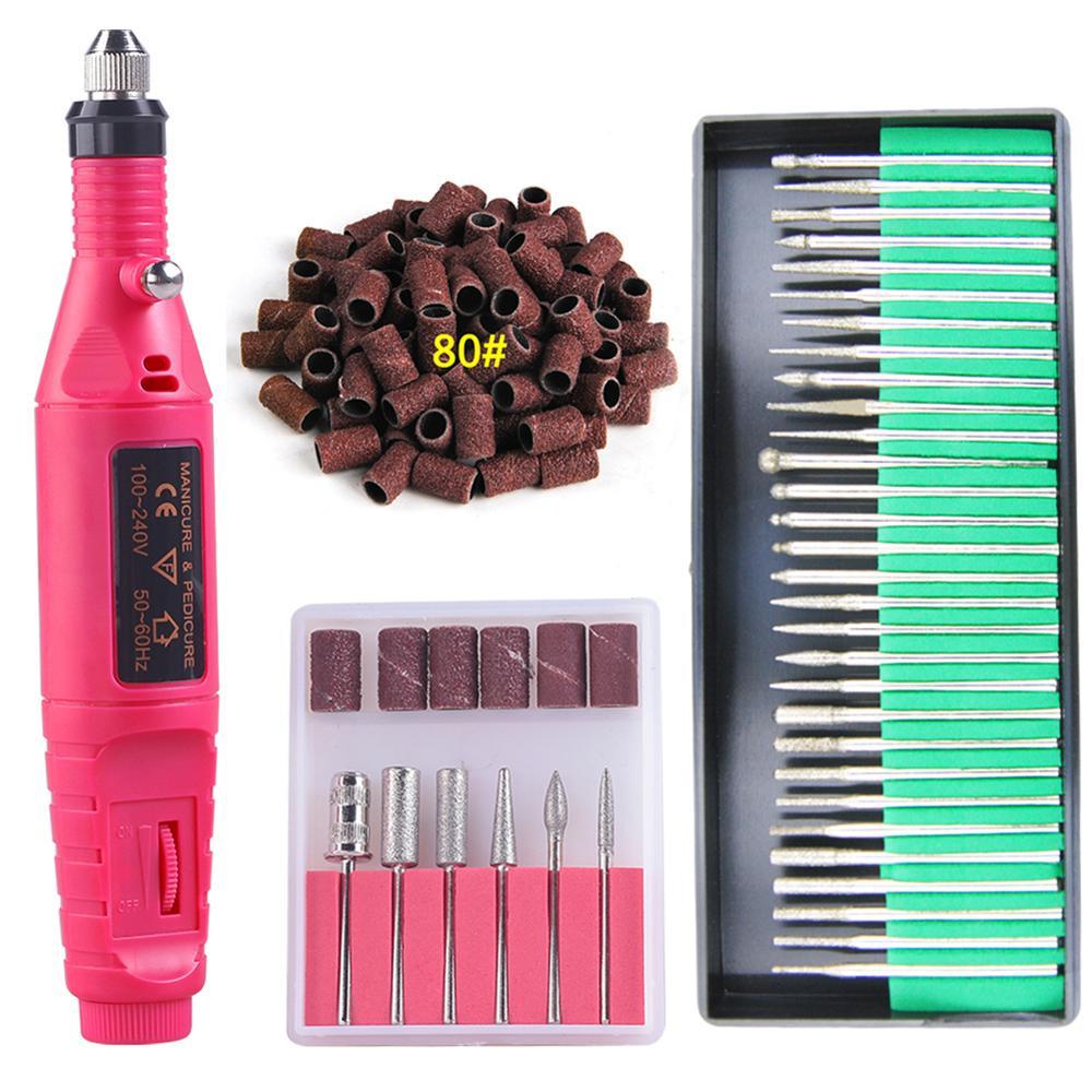 Manicure Machine Electric Nail Drill Bits Cutter Art Equipment Pedicure Files Mini