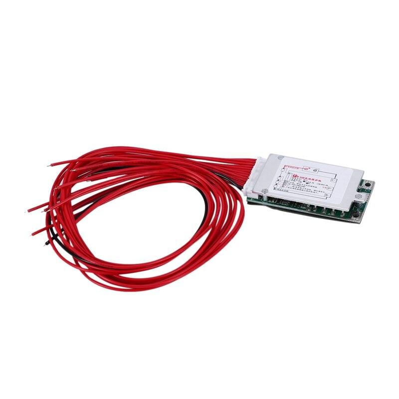 13S 48V 15A Li-Ion Lipolymer Battery Protection Board BMS PCB Board With Heatsink For E-Bike EScooter