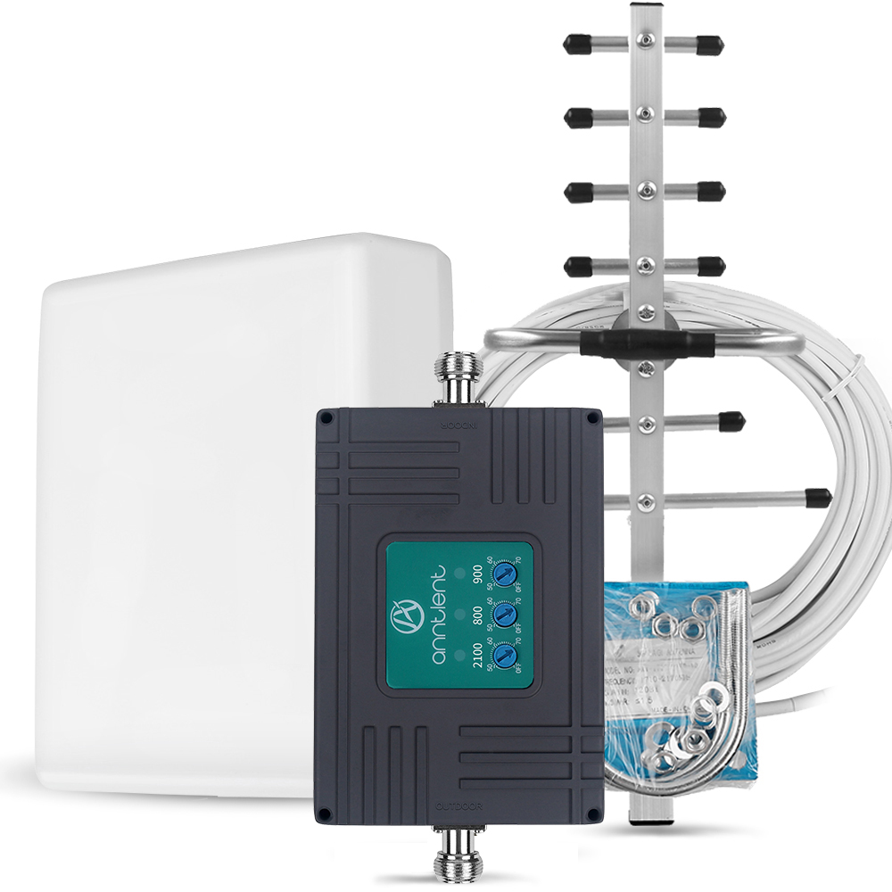 GSM 4G Repeater 900/1800/2100 2G 3G 4G Signal Booster Mobile Phone DCS LTE 1800 WCDMA 2100 Tri Band Cel Phone cellular Amplifier-in Signal Boosters from Cellphones & Telecommunications