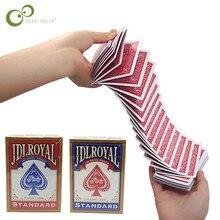 Sihirli elektrikli güverte (bağlantı ile görünmez iplik) kartları Prank Trick Prop Gag Poker akrobasi şelale kart sahne GYH