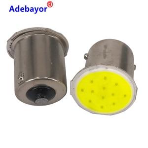Image 5 - 100x P21W 1156 BA15S P21W LED Nhan Bóng Đèn COB 12 Chip Xe Hơi Ô Tô Trang Trí Nội Thất Đỗ Xe Kéo Phía Sau Nhan đèn 12V