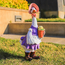 High Cute Resin Duck Outdoor Statue Flexible Simulation Duck Ornaments For Outdoor Yard Lawn Garden Decorations DOG88