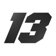 Наклейка на мотоцикл, номер 13, Светоотражающая наклейка на автомобиль, s, Moto, авто наклейка, смешной винил JDM на автомобиль, Стайлинг для yamaha suzuki 15*10,3 см