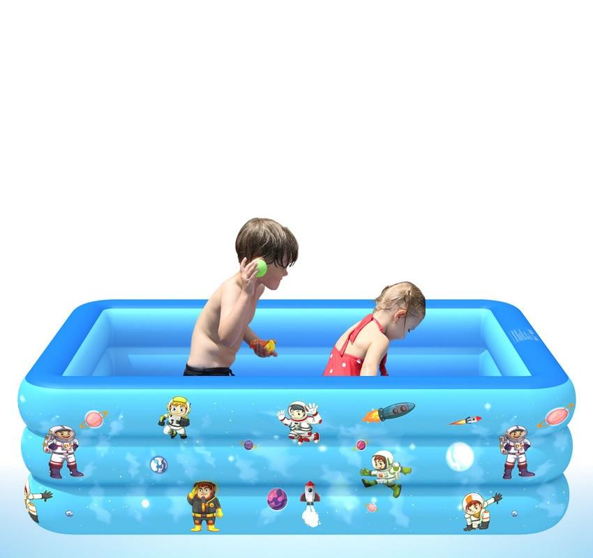 Pvc piscina inflável crianças impresso azul dos