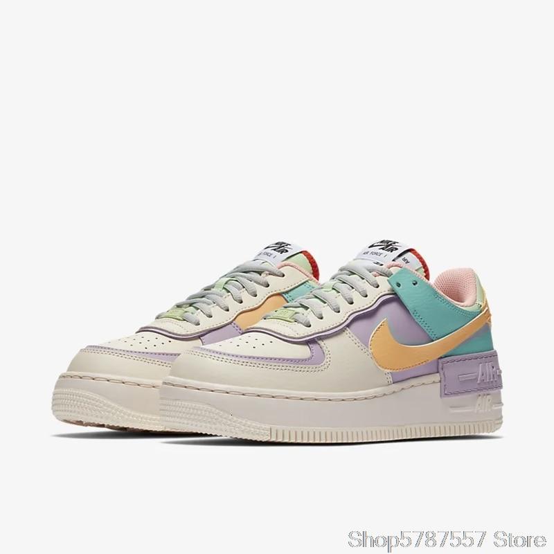 Nike Air Force 1 Shadow zapatos de Skateboarding para mujeres, zapatillas deportivas al aire libre, CI0919-003 Ins recomendados 100% recién llegados originales - 3