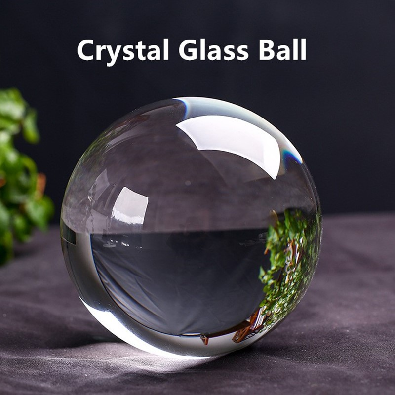80mm K9 Lens Ball Crystal Glass Ball Crystal Ball For Sphere FengShui Photography Wedding Decoration Home Decorative Ball