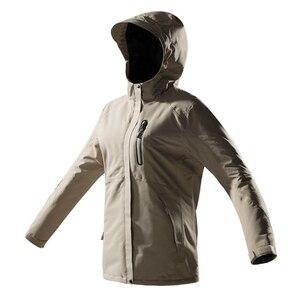 Image 5 - Hiver USB infrarouge chauffage vestes hommes femmes en plein air coupe vent imperméable coupe vent polaire décontracté à capuche manteau hommes vêtements