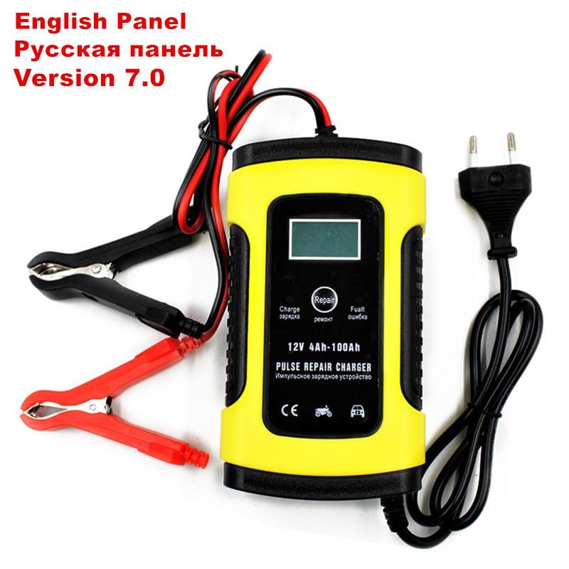 Зарядное устройство для аккумулятора автомобиля, автоматическое зарядное устройство с ЖК-дисплеем для сухозаряженных и свинцово-кислотны...