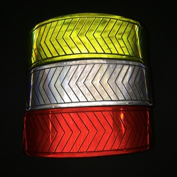 5CM*50M Fluorescent Reflective Warning PVC Tape Reflective Warning Clothing Material
