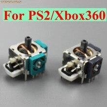 100 قطعة ثلاثية الأبعاد التناظرية الاهتزاز عصا التحكم ل Xbox360 Thumbstick تحكم وحدة الاستشعار الروك ل Xbox 360 PS2 الألعاب إصلاح أجزاء