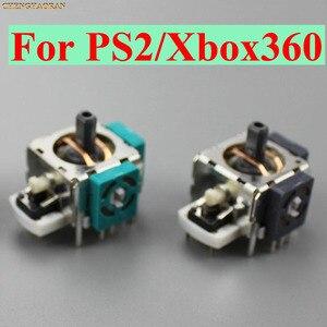 Image 1 - 100 قطعة ثلاثية الأبعاد التناظرية الاهتزاز عصا التحكم ل Xbox360 Thumbstick تحكم وحدة الاستشعار الروك ل Xbox 360 PS2 الألعاب إصلاح أجزاء