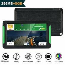 7 дюймов Gps навигатор портативный навигатор 8 ГБ-256 Мб Gps Navi навигационное устройство карты Грузовик Авто сенсорный экран