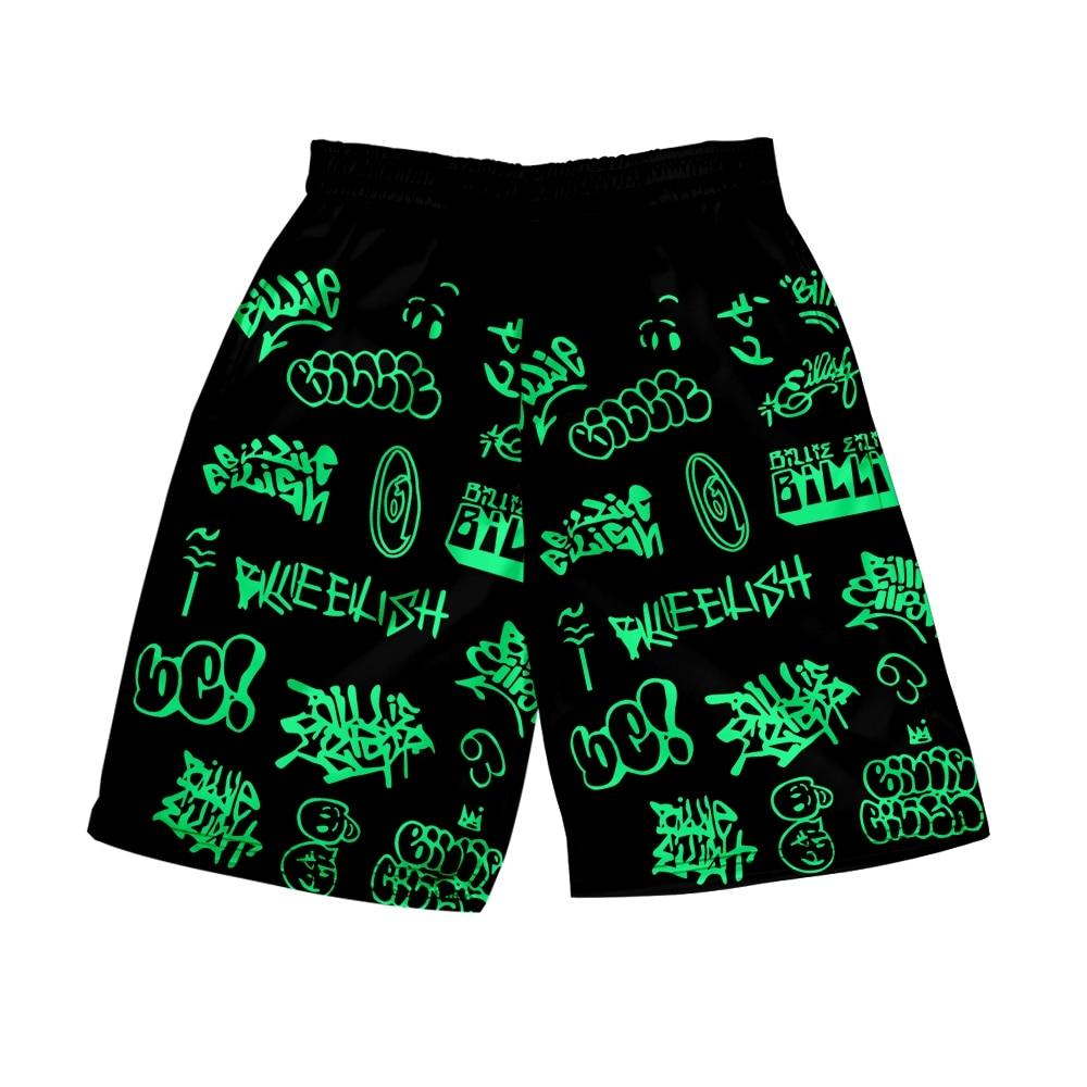FRDUN TOMMY 2020 New Billie Eilish Shorts Casual Shorts Woman High Waist 3D Shorts Harajuku Beach Sexy Short Women'S Clothing