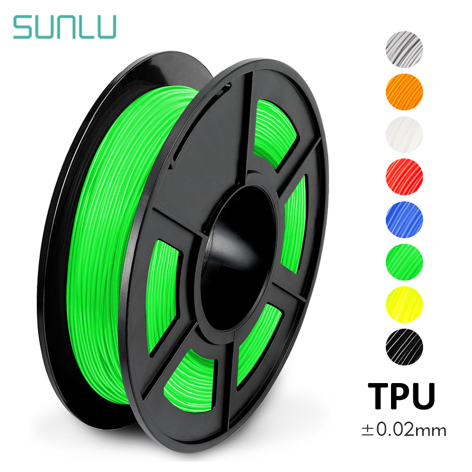 SUNLU TPU 3D Printer Filament Flexible 100% No Bubble TPU Flexible Filament For 3D Printer Non-toxic Sublimation Supplies 1.75mm