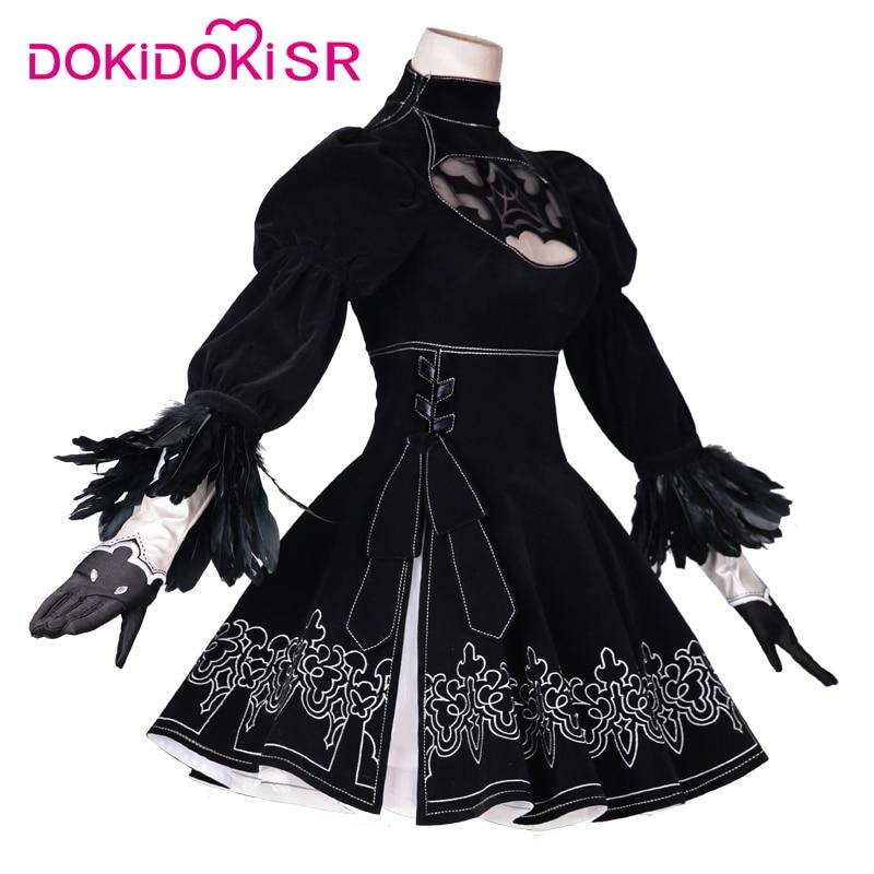 DokiDoki-SR Game Cosplay NieR:Automata 2B Cosplay YoRHa No. 2 Type B Costume Women Halloween Costume NieR Automata 2