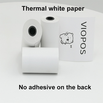 3 rolki 57x30mm naklejki etykiety termiczne papier pokwitowań do drukarek 58mm A6 perpage miękka osłona silikonowa
