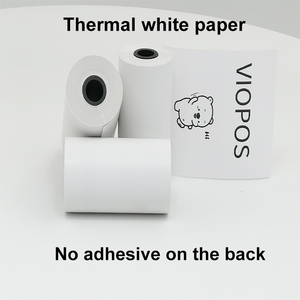 3 rolls 57x30mm thermal Label Sticker Receipt Paper for 58mm A6 perpage printers Soft Silicone Protection Case(China)